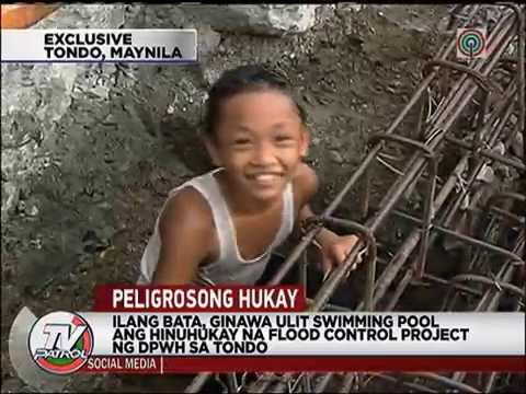 TV Patrol: Flood control project sa Tondo, naging 'swimming pool'