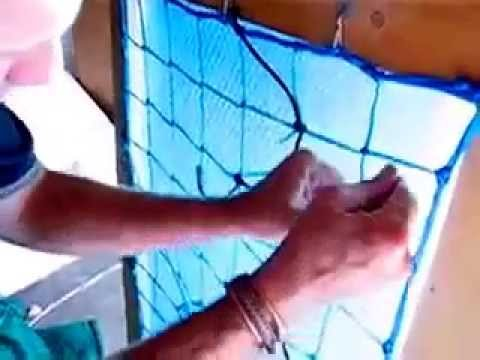 Repairing A Pool Safety Net.