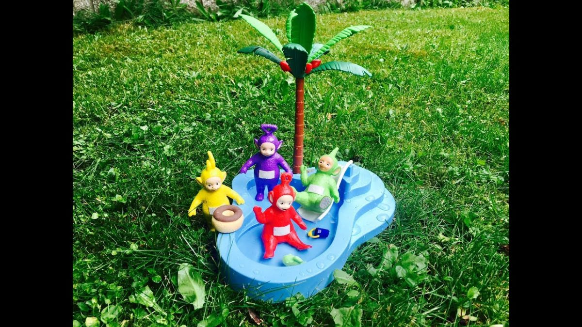 Learning POOL SAFETY and RULES with Teletubbies Toys!