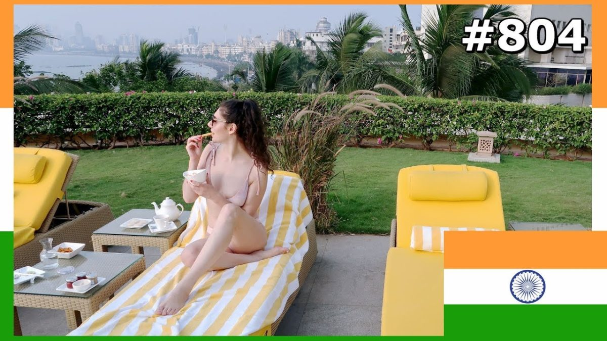 MUMBAI MUST DO: MARINE DRIVE VIEW SWIMMING POOL TRIDENT NARIMAN POINT DAY 804 | TRAVEL VLOG IV